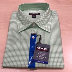 Kirkland Ladies 3/4 sleeve non iron stretch shirt